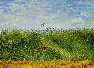Vincent van Gogh. Tarweveld met leeuwerik. Knipsel